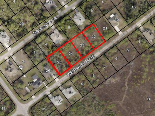 4- Lots Weslaco 919-927-935-943 Street SE, Palm Bay, FL 32909