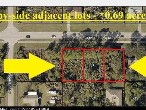 3610-20-30 *3 Adjacent Lots* Jupiter Boulevard SE, Palm Bay, FL 32909